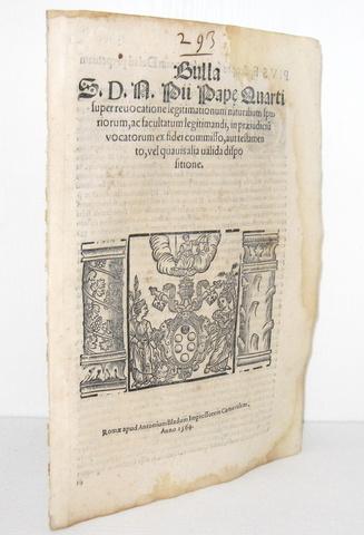 Blado - Bolla di Pio IV sulle successioni