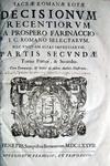 Prospero Farinacci - Sacrae Romanae Rotae Decisionum - 1677