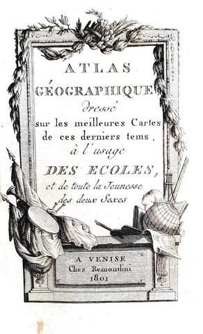 Un magnifico atlante portatile: Atlas géographique - Remondini 1801 (con 60 cartine acquerellate)