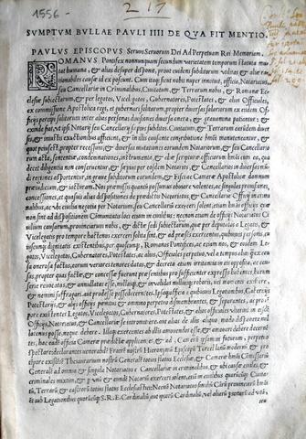 Paolo IV organizza tribunali e fisco