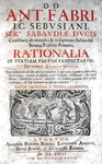 Antoine Favre - Rationalia in Pandectas - Lugduni 1659