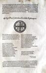 Bolla di Pio V che estende la tutela dei cardinali dagli attentati - Roma, Blado 1570