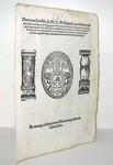 Decreto di Pio IV sulla concessione di grazia, indulto e privilegi - Roma, Blado 1565