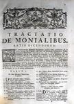 Franciscus Pellizzarius - Tractatio de monialibus - 1761