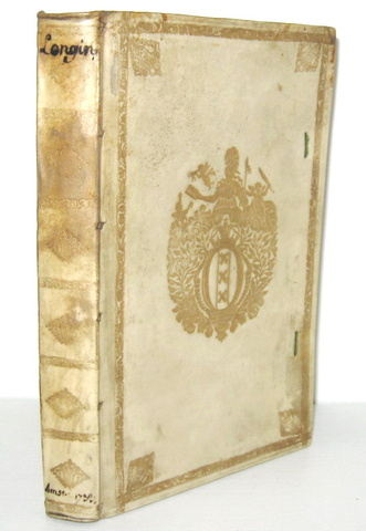 Cassius Longinus - De sublimitate commentarius - Amsterdam 1733