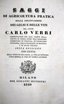 Carlo Verri - Saggi di agricoltura ed enologia - 1829