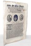 Bolla di Pio IV che disciplina i sacramenti e le competenze clericali - Roma, Blado 1562