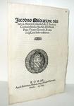 Bolla del cardinale Giacomo Savelli sul matrimonio clandestino - Roma, Blado 1564