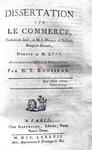 Gerolamo Belloni - Dissertation sur le commerce - 1787