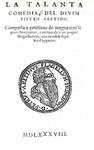 La letteratura erotica nel Cinquecento: Pietro Aretino - Quattro comedie - Londra, John Wolf, 1588