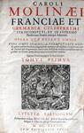 Charles du Moulin - Opera quae extant omnia - Lutetiae Parisiorum 1638