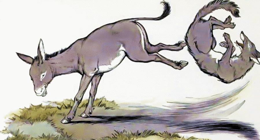 Esopo - L'asino e il lupo
