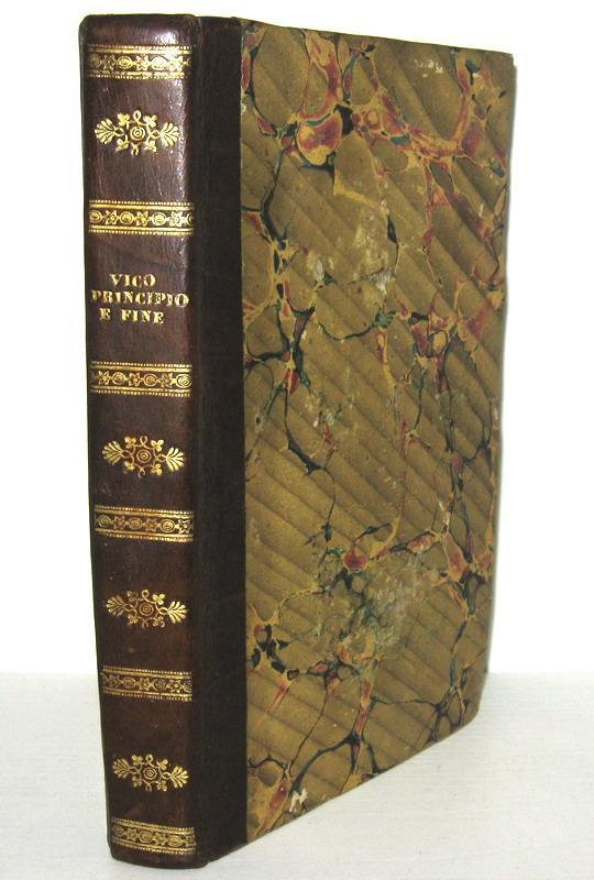 Giambattista Vico - Dell'unico principio e fine del dritto universale - Napoli 1839