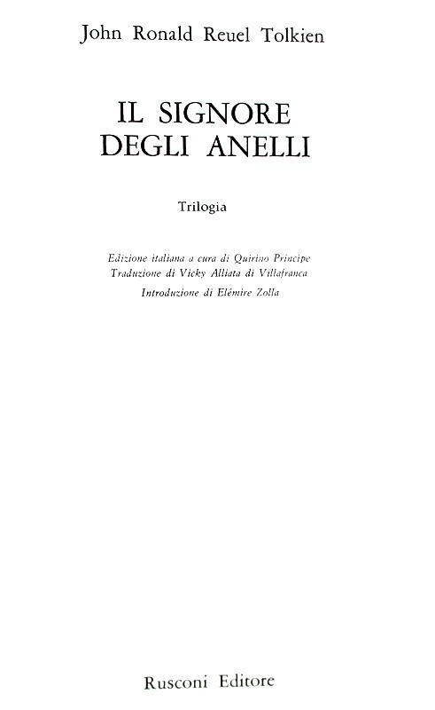 Un classico della narrativa high fantasy: Tolkien - Il signore degli anelli - 1970 (prima edizione)