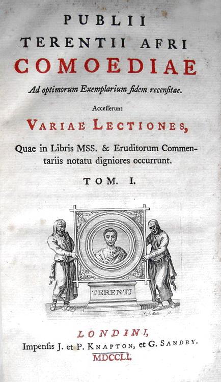 Terentius - Comoediae ad optimum exemplarium fidem recensitae - 1751