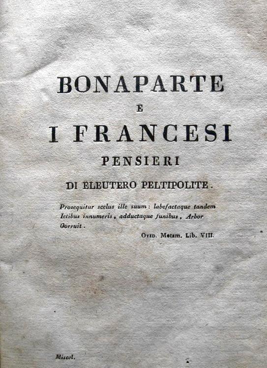 Michele Leoni - Bonaparte e i francesi - 1814