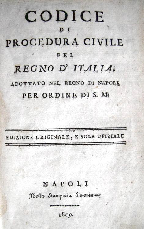 Codice di procedura civile del Regno d'Italia adottato nel Regno di Napoli - 1809