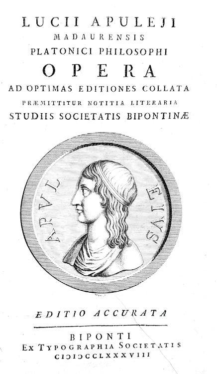 Apuleius - Opera omnia (Metamorfosi, De magia, Florida, ecc.) - 1788 (bellissima legatura coeva)