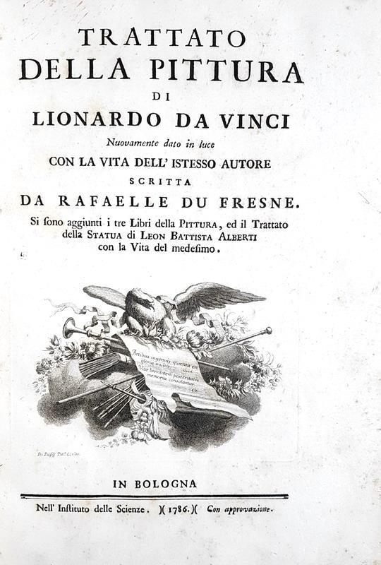Leonardo da Vinci - Trattato della pittura - Bologna 1786 (con numerose tavole incise in rame)