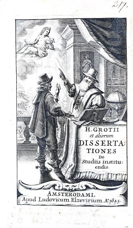 Storiografia seicentesca: Grotius  - Dissertationes de studiis instituendis - 1645 (prima edizione)