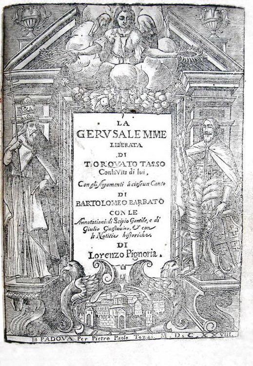 Bel figurato seicentesco: Torquato Tasso - La Gerusalemme liberata - Padova 1628 (con 21 tavole)