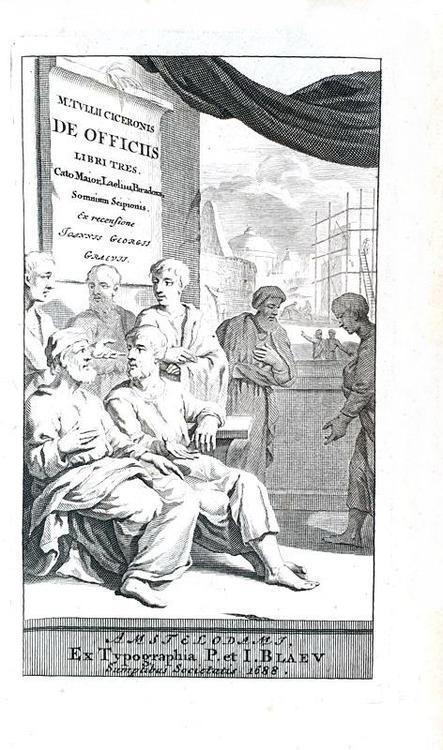 Cicero - De officiis libri tres, Cato Maior, Laelius, Paradoxa, Somnium Scipionis - 1688