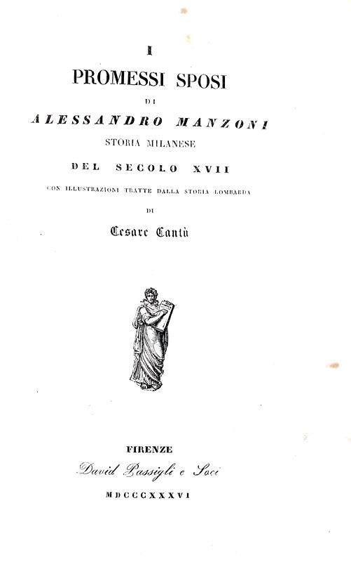 Alessandro Manzoni - Opere in versi e in prosa. Volume unico adorno di dieci incisioni - 1836/37