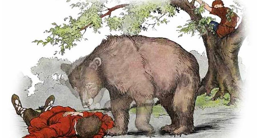 Esopo - I due viandanti e l'orso