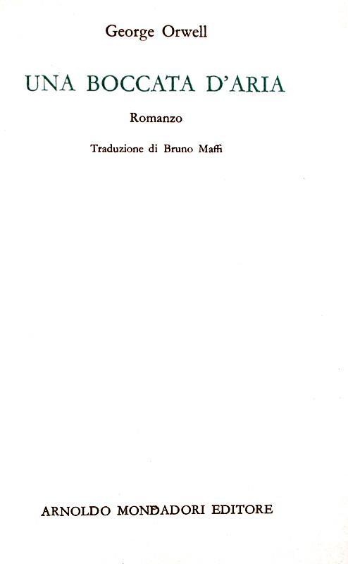 George Orwell - Una boccata d?aria - Medusa Mondadori - 1966 (prima edizione italiana)