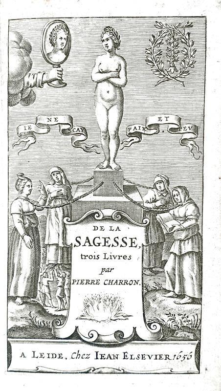 Pierre Charron - De la sagesse trois livres - Elzevier 1656 (stupenda legatura in marocchino rosso)