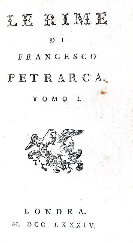 Francesco Petrarca - Le rime - Londra (ma Parigi) 1784 (graziosa edizione di piccolo formato)