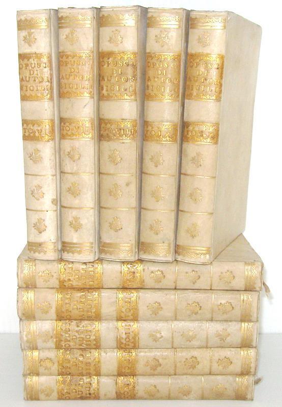 Opuscoli di autori siciliani - Catania e Palermo - 1758-1768 (prime 10 annate - rara prima edizione)