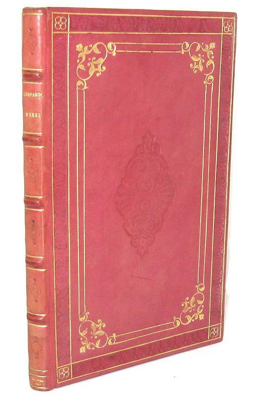 Una straordinaria rarità bibliografica: Giacomo Leopardi - Versi - Bologna 1826 (prima edizione)