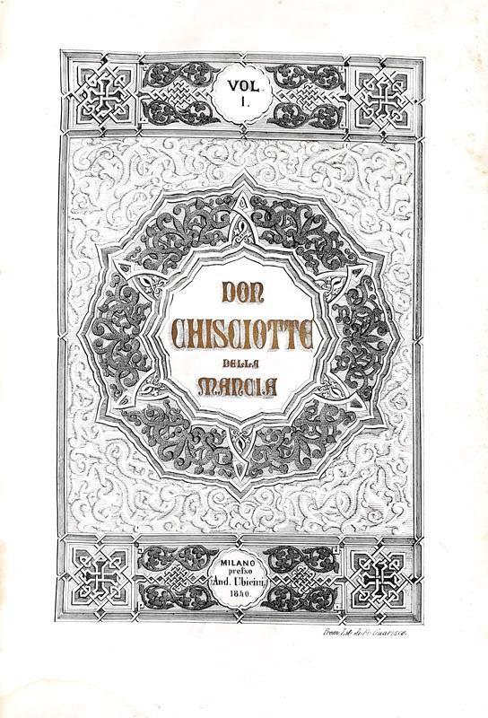 Cervantes - L'ingegnoso Don Chisciotte della Mancia con Sancio Pancia - 1841 (edizione illustrata)