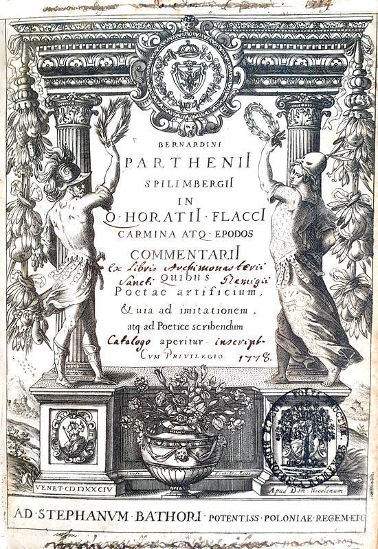 Horatius - Carmina, Epodos, Sermones, Satirae et Epistolae - Venezia, Nicolini 1584 (bella legatura)