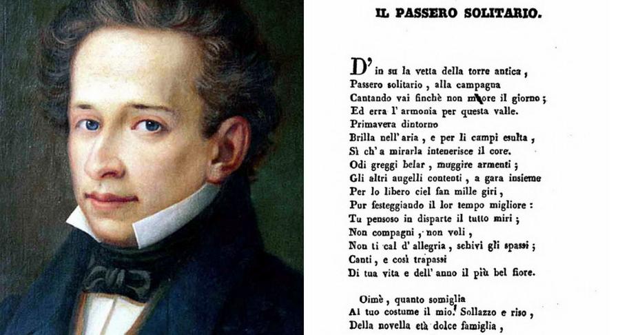 Giacomo Leopardi - Il passero solitario