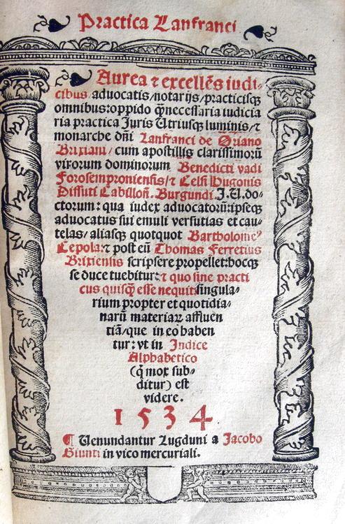 Practica Baldi - Practica Lanfranci - 1530