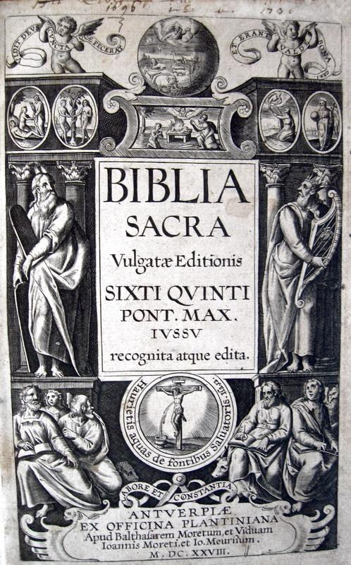 Biblia sacra vulgatae editionis Sixti quinti Pont. max. - Officina Plantiniana - 1628