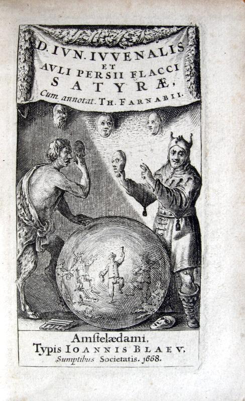 Iuvenalis et Persius - Satyrae cum annotationibus Th. Farnabii - 1668