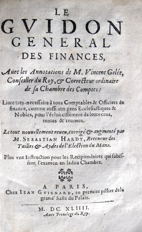 Hennequin - Le guidon general des finances - 1644