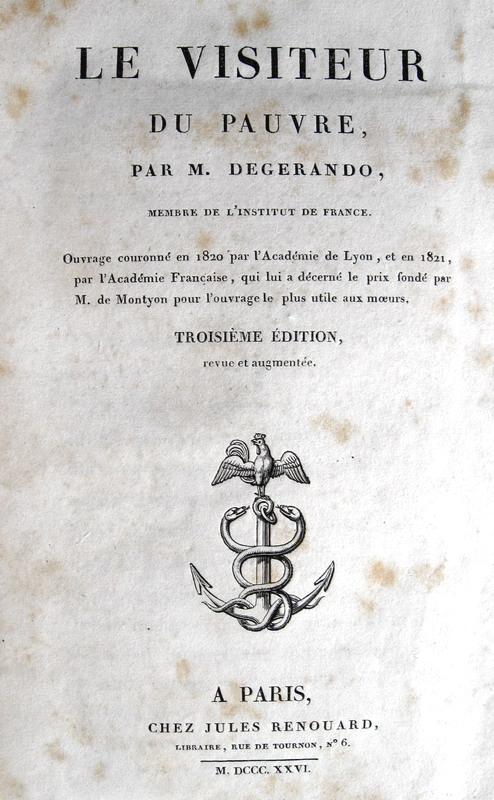 Joseph Marie de Gerando - Le visiteur du pauvre