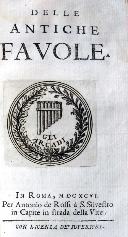 Gian Vincenzo Gravina - Opuscula - Delle antiche favole - 1696
