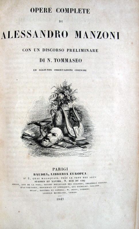 Alessandro Manzoni - Opere complete - Parigi 1843