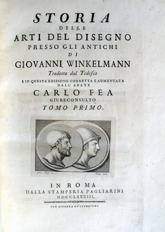 Johann Joachim Winckelmann - Storia delle arti del disegno presso gli antichi - 1783