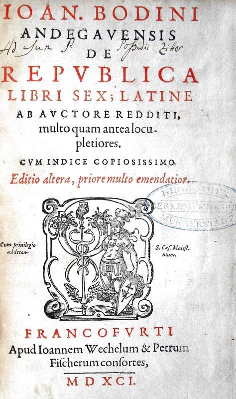 Jean Bodin - De republica libri sex - 1591 (video)