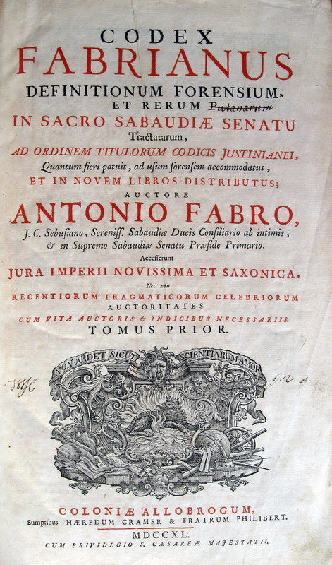Codex fabrianus - 1740