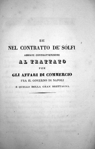Commercio di zolfo tra Sicilia e Gran Bretagna