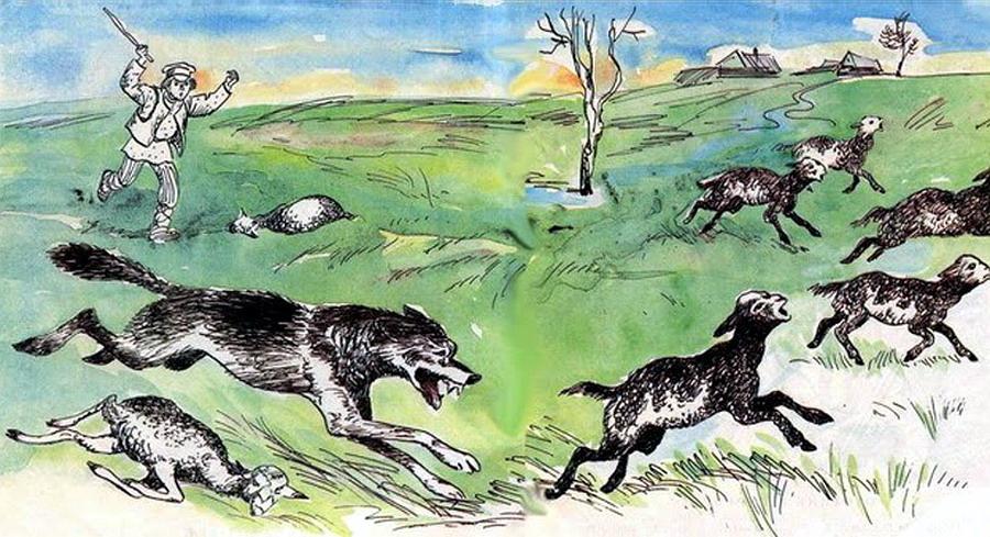 Esopo - Il lupo e il pastore