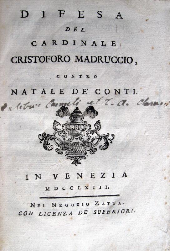 Lazzaro De Gaspari - Difesa del Cardinale Cristoforo Madruccio - 1763