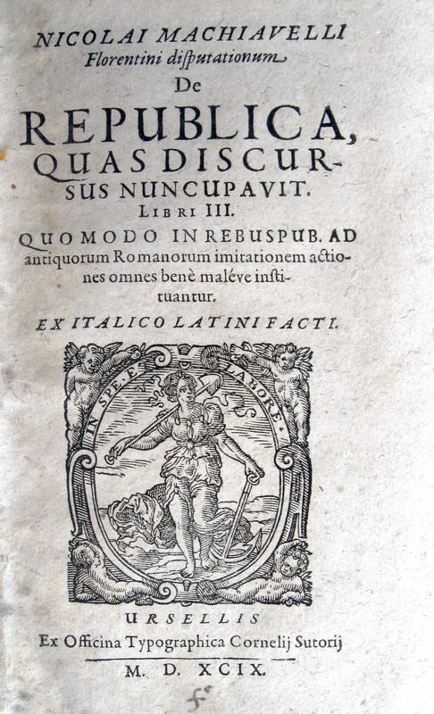 Niccolò Machiavelli - De republica - 1599